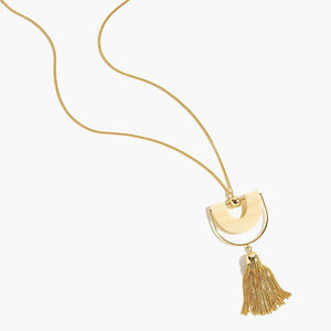 NWT J. Crew tassel pendant necklace